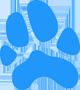 dog-foot blue1